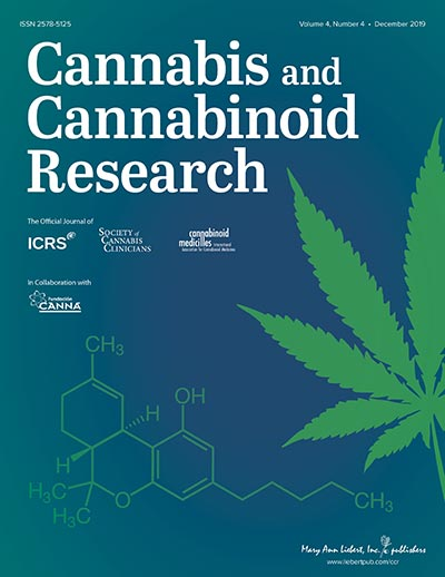 """Résultat de recherche d'images pour """"Cannabis and Cannabinoid Research"""""""