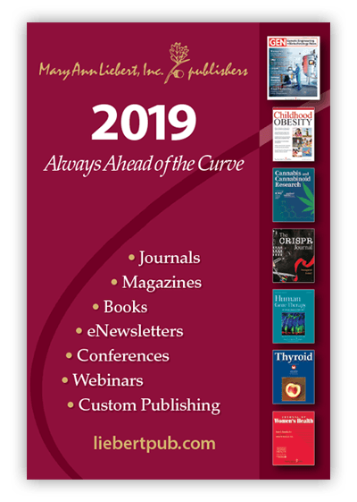 Mary Ann Liebert, Inc., publishers 2019 Publication Catalog