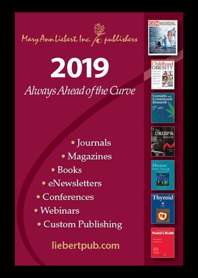 Mary Ann Liebert, Inc., publishers 2019 Publication Catalog