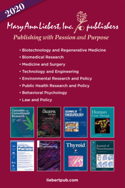 Mary Ann Liebert, Inc., publishers 2020 Publication Catalog